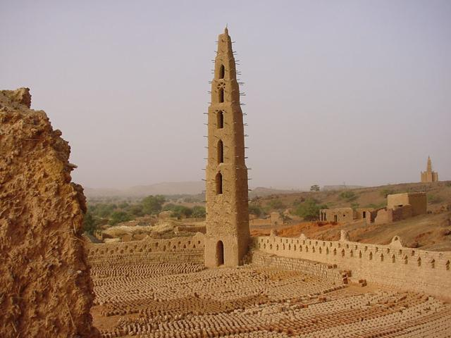 La grande mosquée, l'une des sept mosquées de Bani Burkina Faso