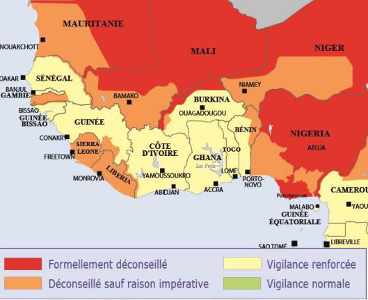Sécurité: la carte de vigilance au Burkina Faso